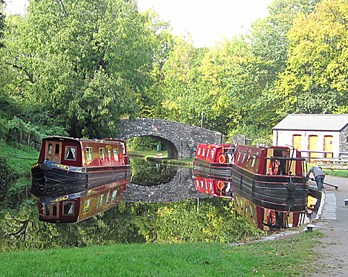 Boats on the Monmouth & Brecon Canal